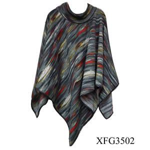2016 Fashion new style leather hemming ruana scarf shawl