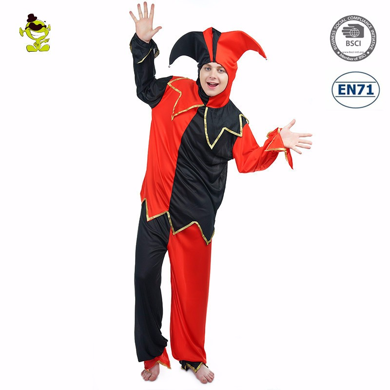 halloween kostum gericht jester clown joker kostum herren