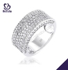 Lovely diamond pave setting 925 sterling silver lip gloss ring