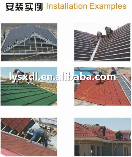 Fire Resistant Roof Tile : Fire resistant material stone coated steel roofing tile