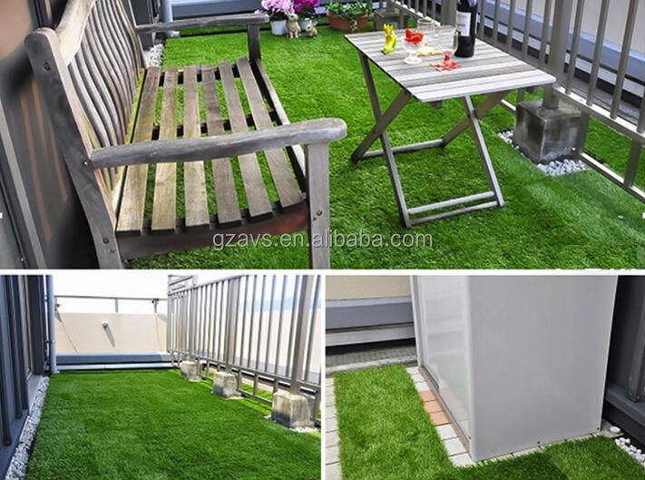 Garden landscaping artificial grass carpet for balcony for Balcony artificial grass