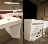 Nail beauty salon nail bar furniture design white nail beauty table and wooden manicure table