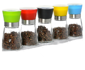 Manual Glass With Stainless Steel Pepper Grinder