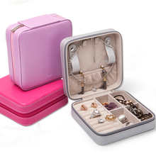 Luxury Travel Custom Mirror PU Leather Small Jewelry Packaging Box