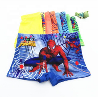 Free shipping cartoon underwear four square horn pants milk fiber spider picture man case boy shorts panties