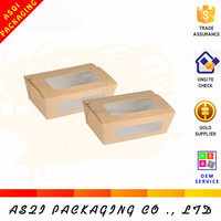 OEM Printed PVC window paper cardboard packaging donut boxes for food