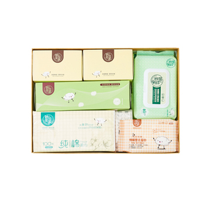 Hotsale multi-purpose cleaning dry and wet wipes gift set biodegradable natural baby dry tissue