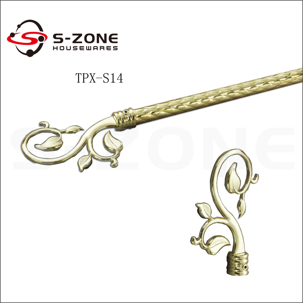 22mm Decorative Kids Curtain Rods And Beautiful Curtain Rod Finial