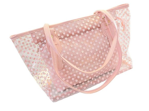Lady Clear Large Multi-Color Jelly Shoulder Handbags