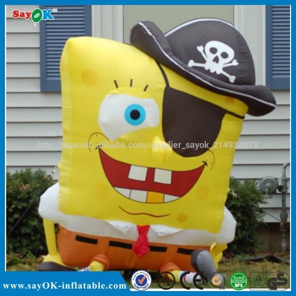 pirata halloween inflables de dibujos animados bob esponja para la