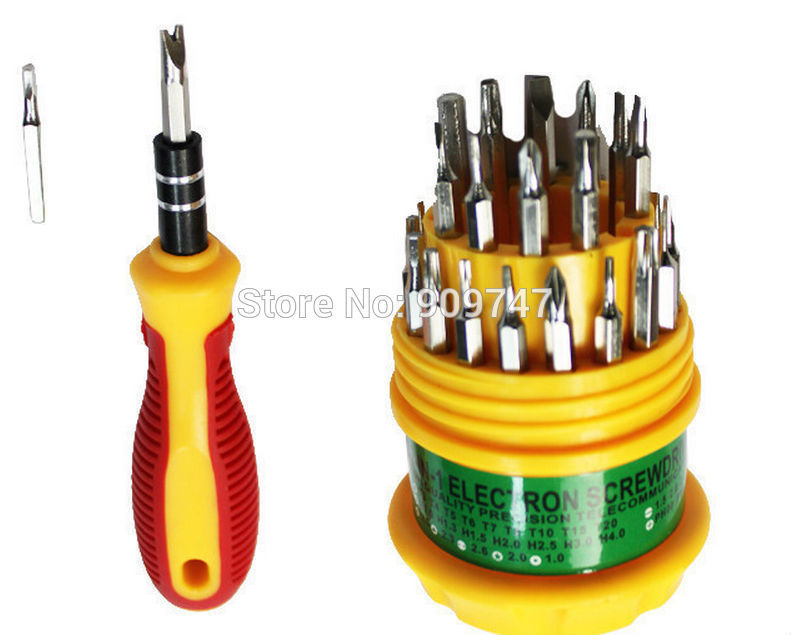 Professional 30 in 1 Precision telecommunication tools Screwdriver set for mobile phones Free Shipping