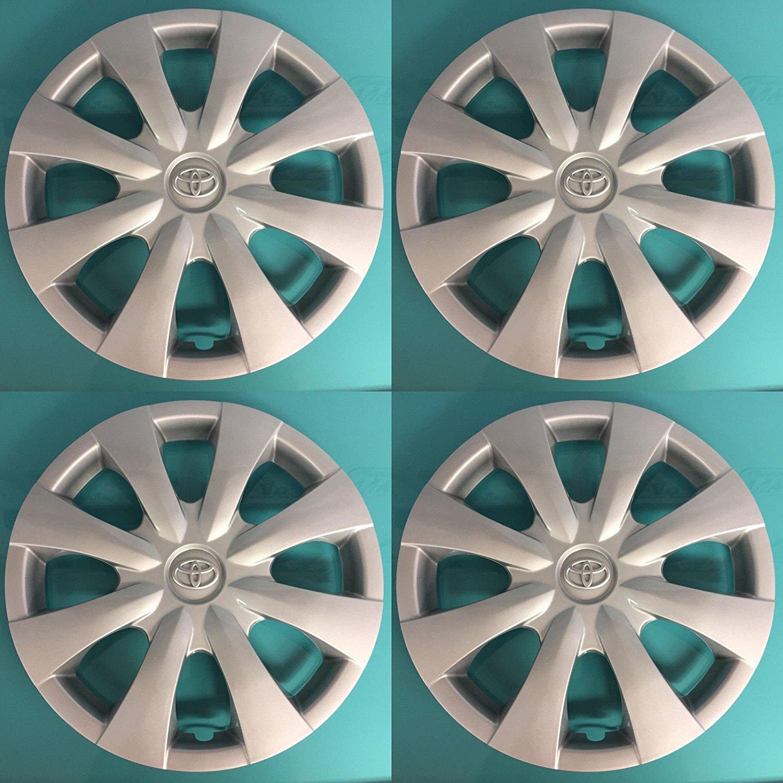 "Set of 4 2009 - 2013 TOYOTA COROLLA 15"" 8-spoke Hubcap Wheelcover Chrome Emblem 42621-02060 61147"