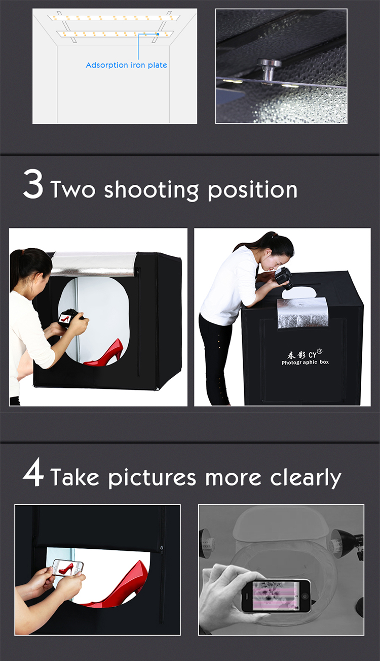 Professionele 100x100x100 cm Photo Studio Light Box LED Soft Box Schieten Licht Tent Photo Box Set