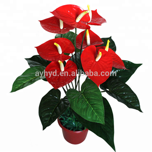 Flowers Plant Type and PU Material fake anthuriums plants