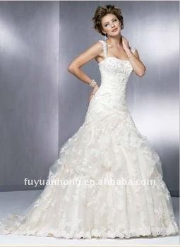 Bandage Mermaid Hip Lace Ball Gown Designer Wedding Dresses Fyh Gw03