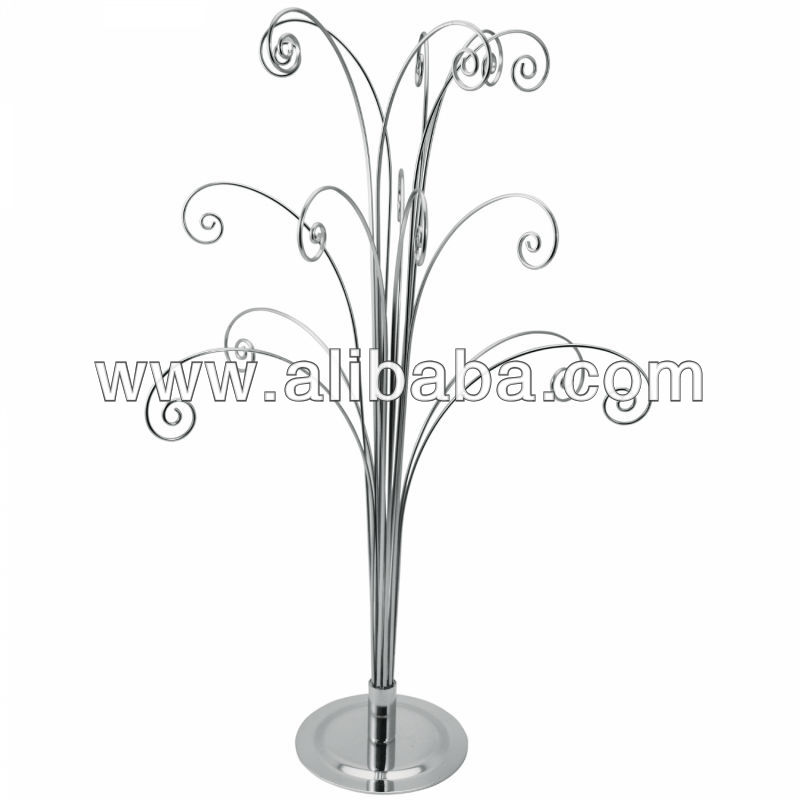 Ornament Stand Christmas Metal Wire Ornament Display Tree Stand 20 ...