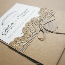 2017 Newest laser cut wedding invitation card designs with cheaper price