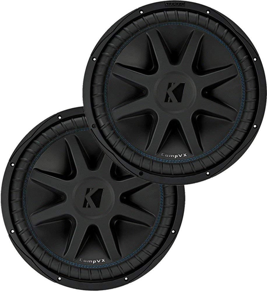 "Kicker Bundle of 2 Items: Two 44CVX104 10"" CompVX Series Car Subwoofers"