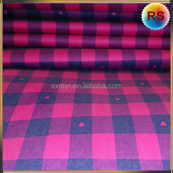 supplying 100% cotton twill flannelette with lower price