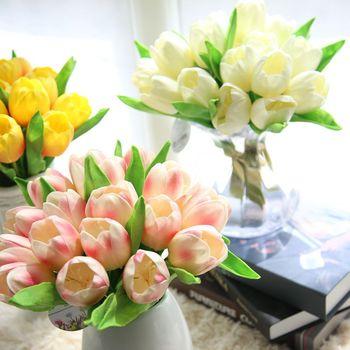 Bajo Costo De Rendimiento Valentinies Día Arreglos Flor Artificial De La Pu Tulip Ramo Buy Etiqueta Ramo De Flores Artificiales Ramo De Flores