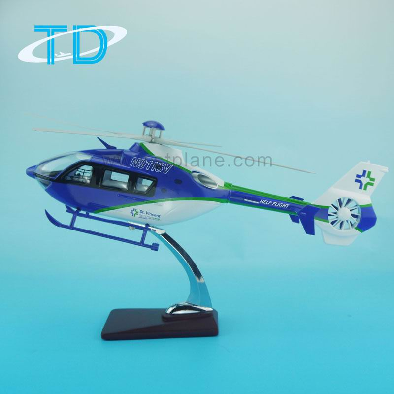 Resin model EC-135 1:24 42cm helicopter toy