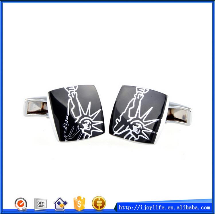 Good Quality Oem Square Enamel Shape Cufflinks