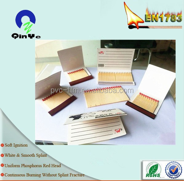 Rohs quality customized plain match books