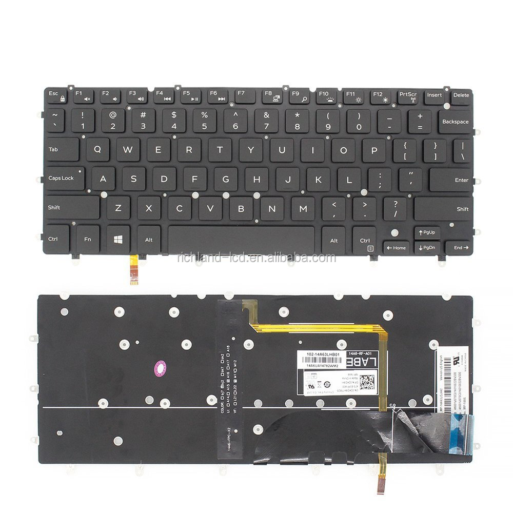 Laptop US Keyboard with Backlit for Dell Inspiron 13 7347 7348 Laptop Replacement