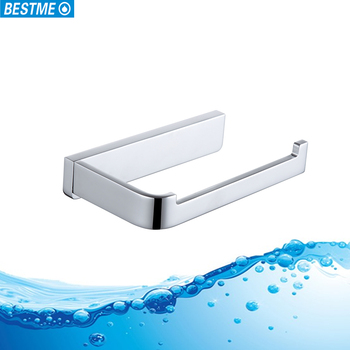 Brass Bathroom Accessories Chrome Finished Square Series Toilet Paper Holder