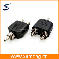 RCA Female to 2 RCA Male AV Y-Splitter Adapter Connector for Audio Cable