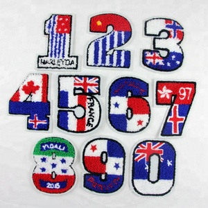 wholesale Towel embroidery patch numbers from 0 to 9 for clothing