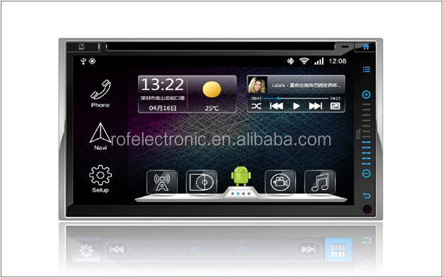 In dash Car gps navigation with Android 4.2system Pad style for universal 2din