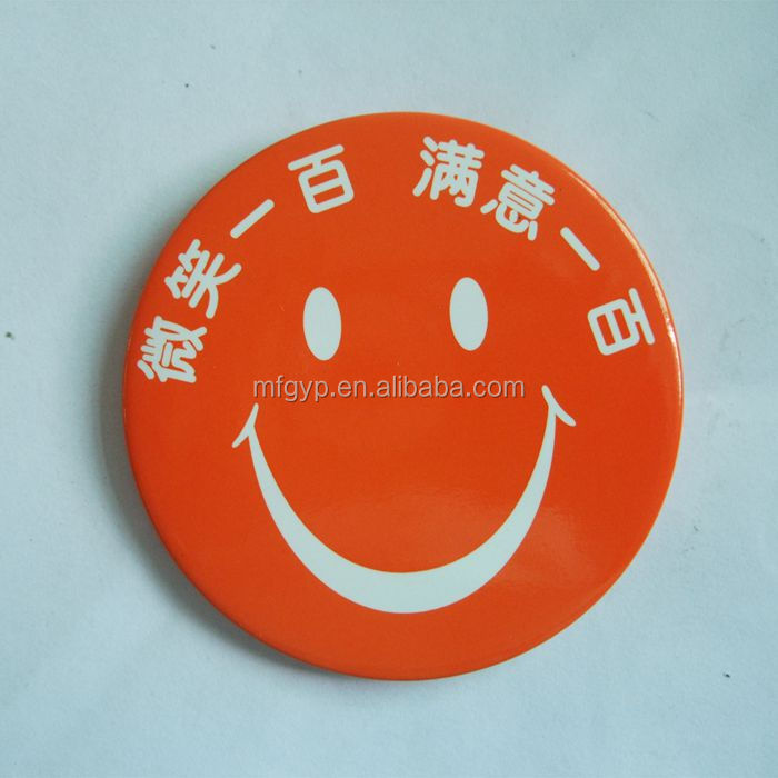 gifts button smiley face badges for advertising promotion