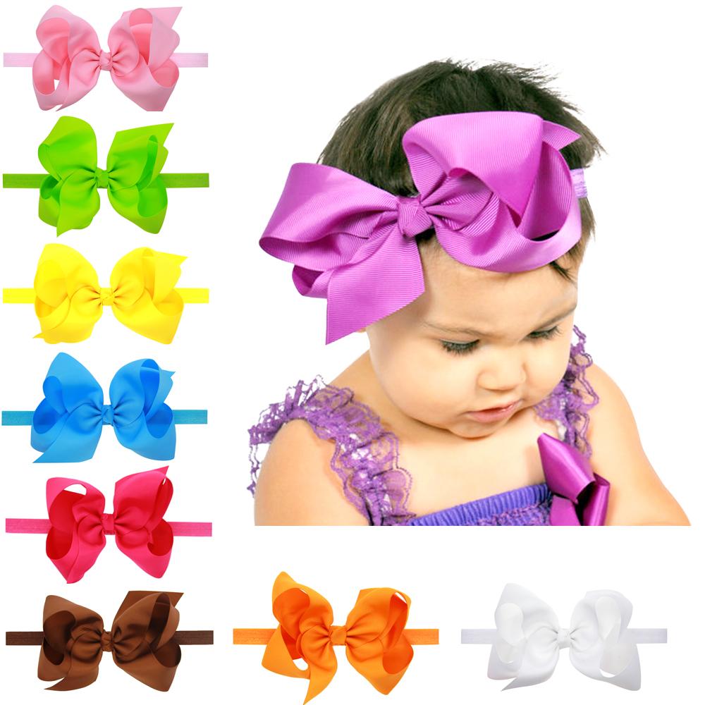 792dc9764 haoxie brand quality grosgrain ribbon fashion children's hair accessories  kids headwear korean headband/big baby girls hair bows