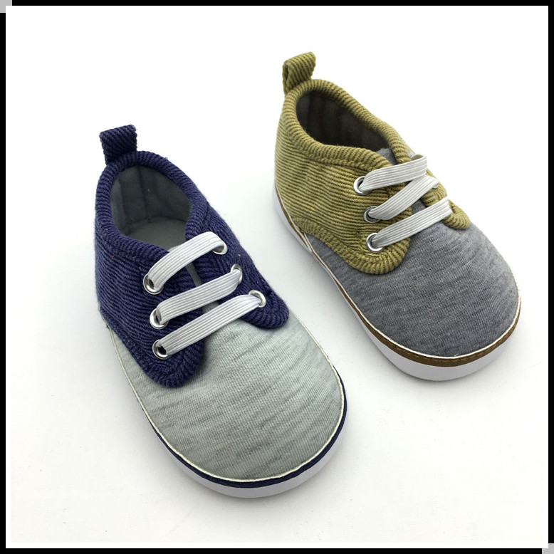 Wholesale knitted fabric sneakers infant toddler shoes for baby boys
