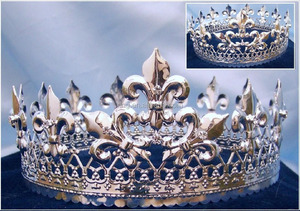 Majestic Queen King Silver Gold Full Crown