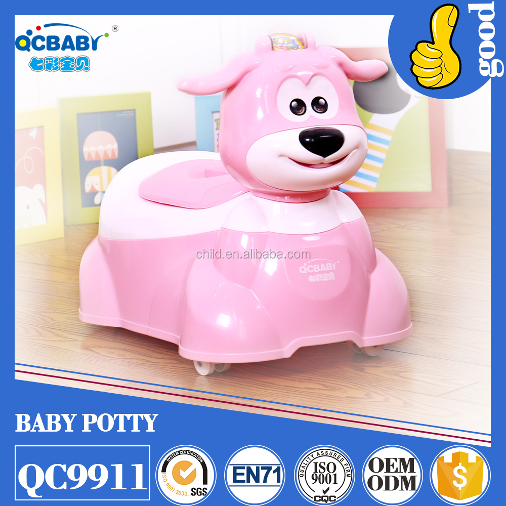 best seller baby potty/ musical potty/baby toilet with wheels