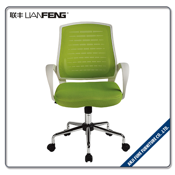 Comfortable middle back metal office executive chair with tilt mechanism