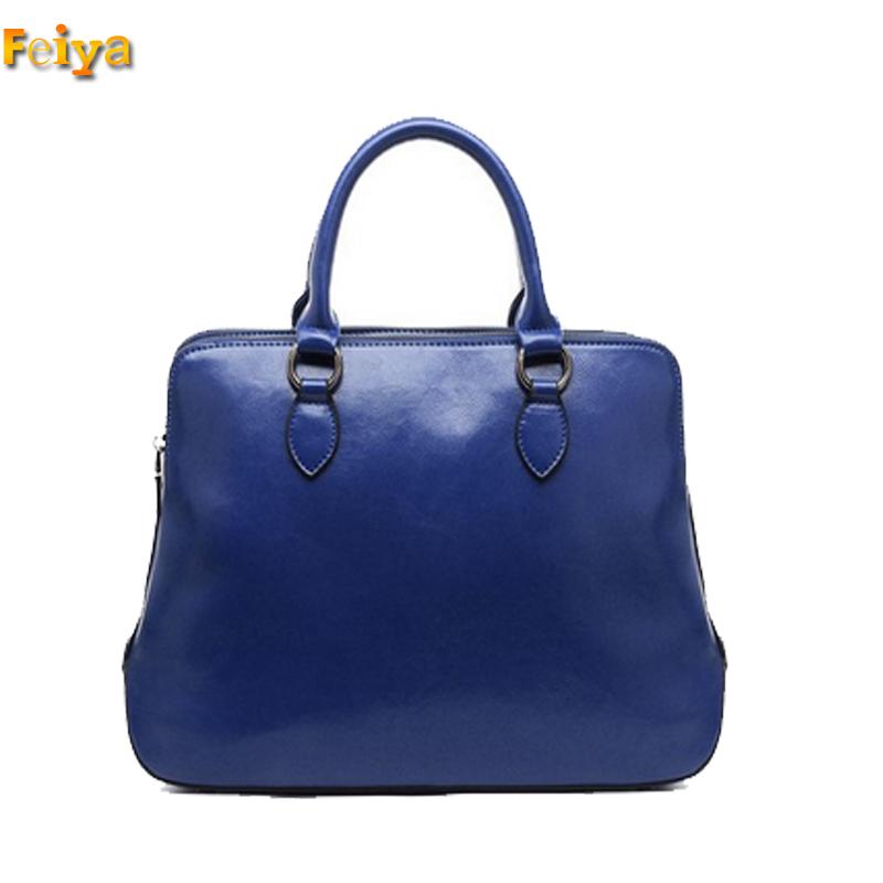 199900bb293e0 Get Quotations · Double Zipper Women Shoulder Bags Real Leather Handbag  Ladies Purse 3 Compartments Elegant Woman s Leather Briefcases