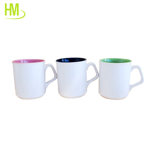 Paintable Ceramics glazed Mug Color Change