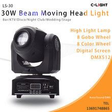 30w led mini moving head spot light professional show lighting spotlighting 30W