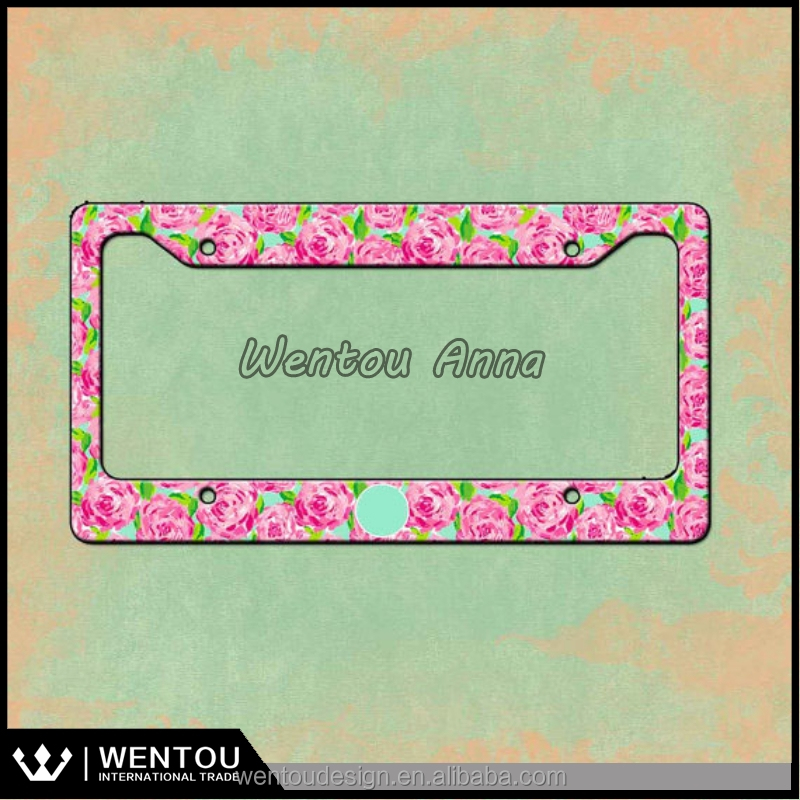 Personalized Monogram License Plate Frame