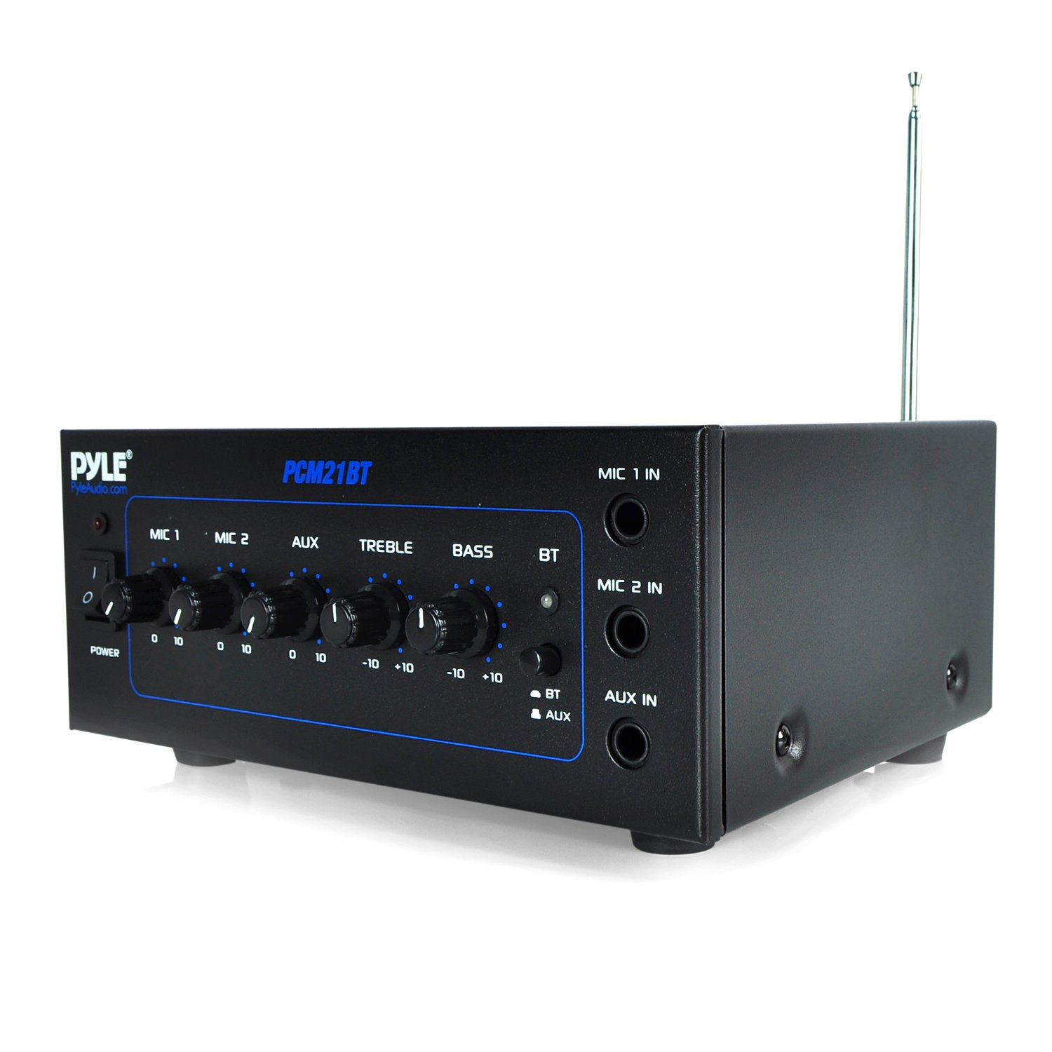 Cheap Built In Amplifier Find Deals On Line At 2 Watts Stereo Using Three Lm386 Get Quotations Pyle Pcm21bt 70v Mini Bluetooth Power With Two Microphone Inputs And Equalizer