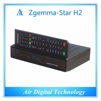 In Stock Zgemma star h2 dvb-s2 with hybrid dvb-t2 tuner satellite receiver with original support