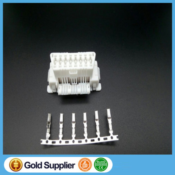 OBDII OBD2 OBD 2 16Pin Female Connector OBD Female Wire Sockets Connector Cable J1962f Socket Plug