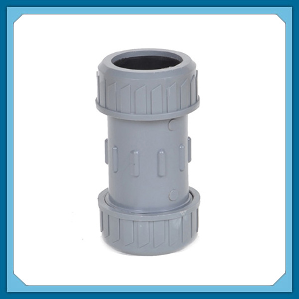 Plastic Pipe Fittings UPVC Expansion Coupling PVC Quick Connector