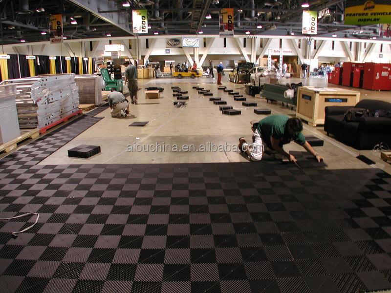 Pvc ad incastro piastrelle per pavimenti in gomma per laboratorio magazzino tappetino in pelle - Piastrelle ad incastro ...