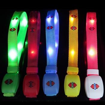 Glowing Wristband Led Bracelet Illuminated Nylon Webbing Bracelets For Party Concert Remote Radio
