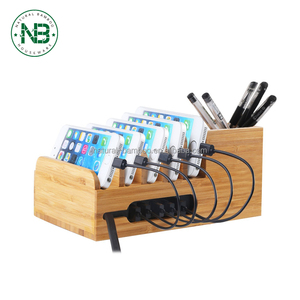 Charging Station with 6-port 40W USB Charger Desktop Organizer and Smart IC Tech Fast Charge for iPhone 7 / 6s / Plus iPad Sony