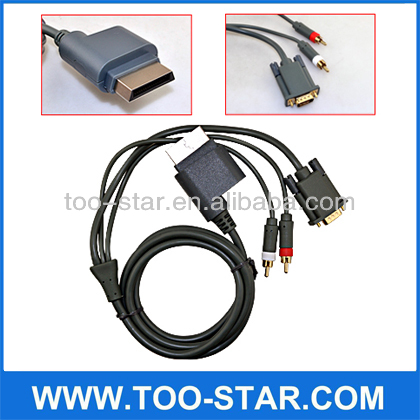 For Xbox 360 VGA Cable With Audio Output HDTV AV HD VGA Cable 1.8M